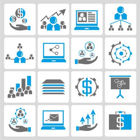 irodai és üzleti ikonok Illusztráció