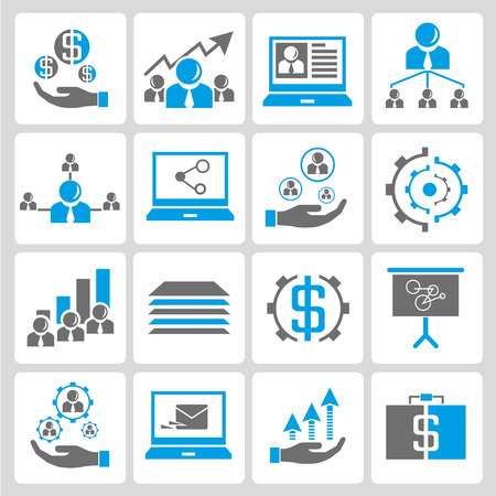 human resource affairs: office and business icons