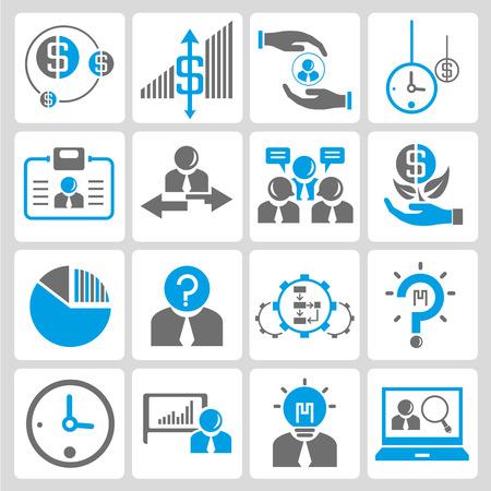 financiële en zakelijke iconen Stock Illustratie