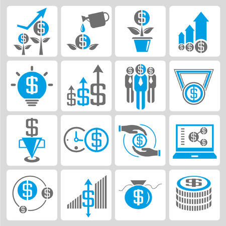 allocate: financial and business icons
