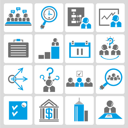 organization and business icons Vector