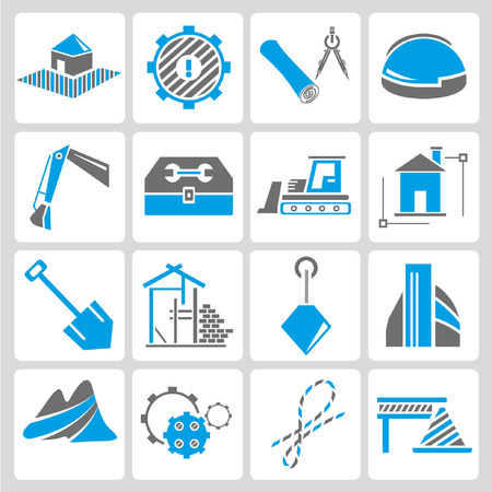 civil engineering: construction icons