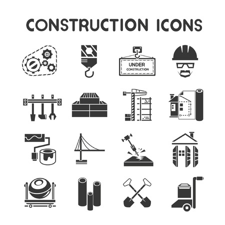 construction icons Stock Vector - 23285006