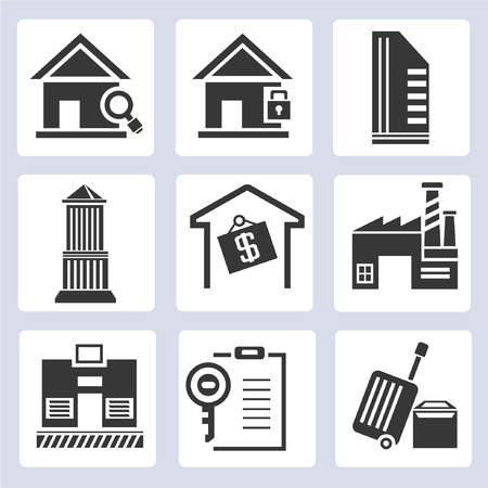 real estate management icons Vector