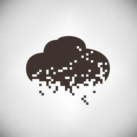 pixel cloud, cloud computting Stock Vector - 23285013