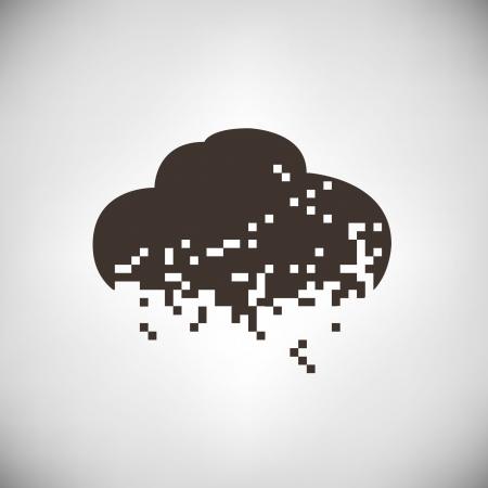 uploading: pixel di nube, nube computting