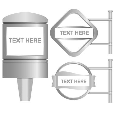 signage, blank display Illustration