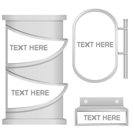 signage, blank display Vector