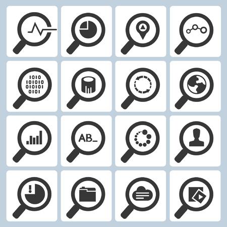 Iconos de búsqueda, iconos de lupa