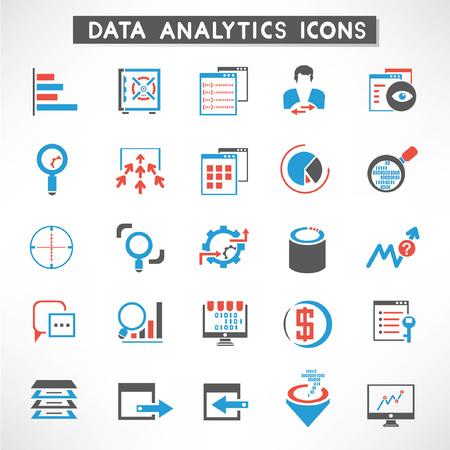 analytic: datos anal�ticos conjunto iconos, botones de gesti�n de datos