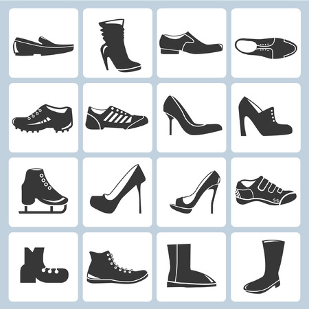 chaussure: icônes chaussures