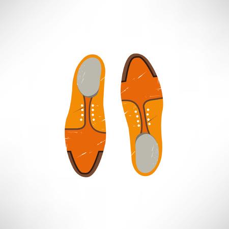 vintage shoes Vektorové ilustrace