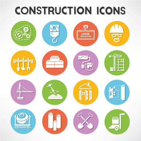 construction buttons set Vector