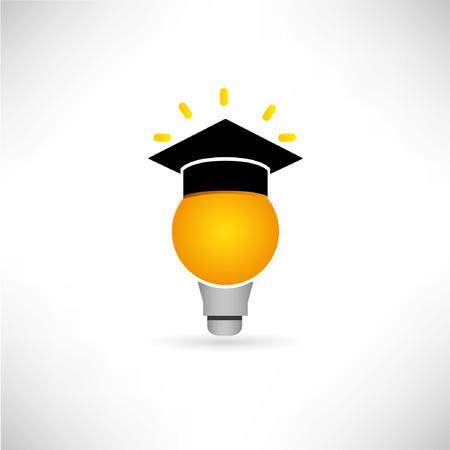 discernment: creative, idea bulb, graduated concept
