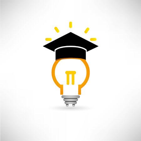 discernment: creative, idea bulb, wisdom concept Illustration