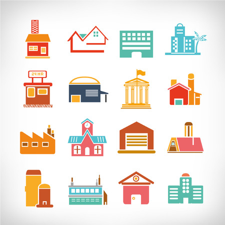 illus: Cute collection of City, Town Buildings