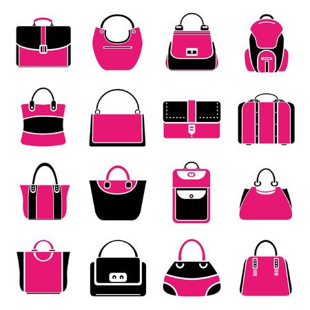 bag set, pink theme Vector