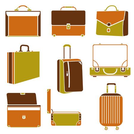 portmanteau: business bag set, suitcase