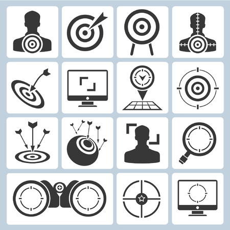 focus on the goal: target icons, dart icons