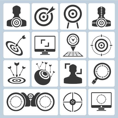focus: target icons, dart icons