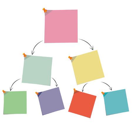 carta de papel nota, diagrama