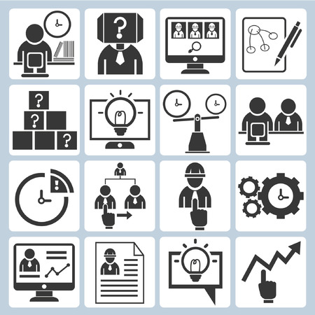 organization development icons Stock Vector - 23356188