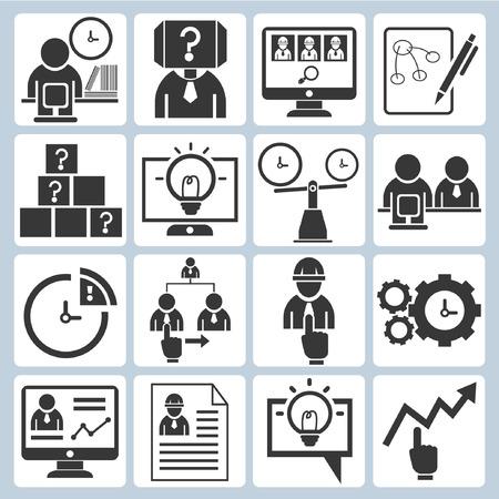activity icon: organization development icons Illustration