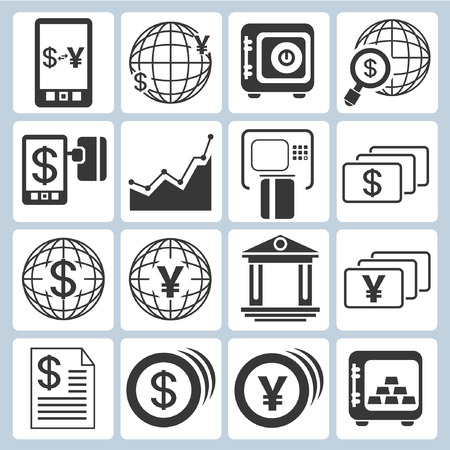 fund world: banking icons, financial icons set Illustration