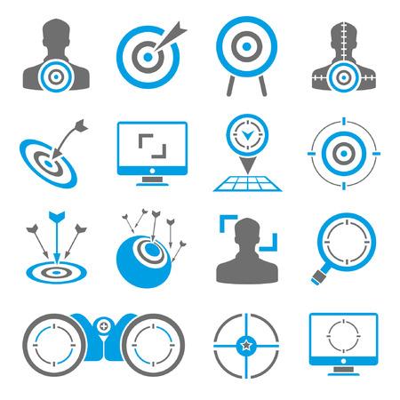 goal, dart icons Vector Illustration