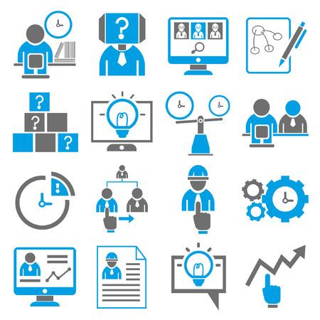 iconos, iconos de negocio de gestión de recursos humanos