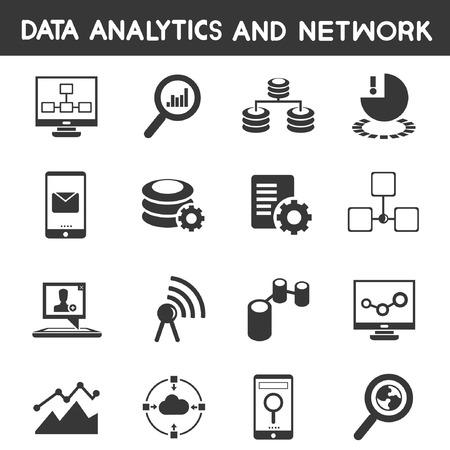 analytical: data analytic icons