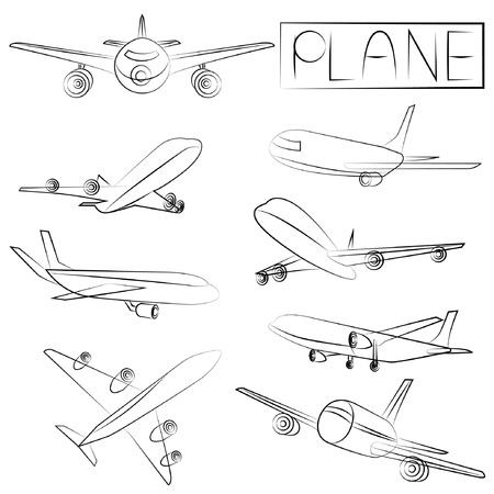 aircraft aeroplane: sketched plane
