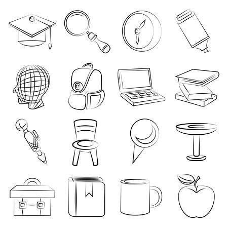 sketched icons: iconos de la educaci�n esbozados