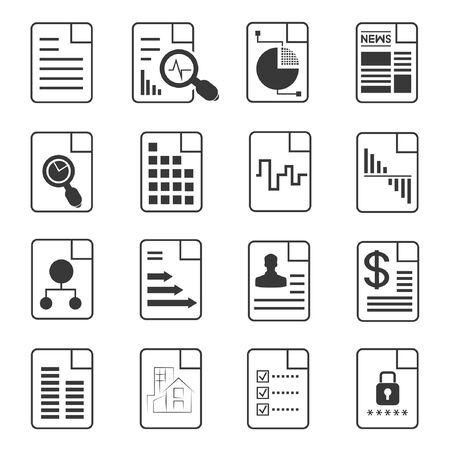 file icons, document icons Vektoros illusztráció