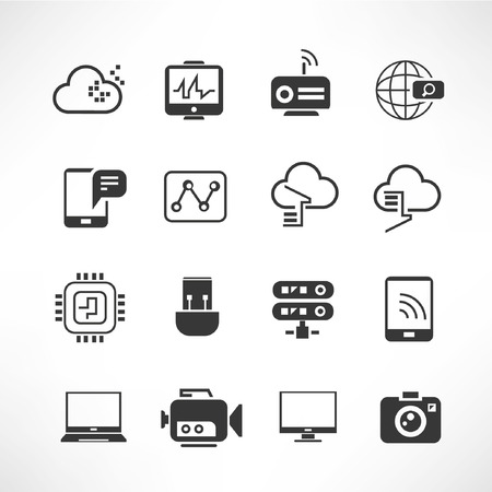 communication icons: network icons