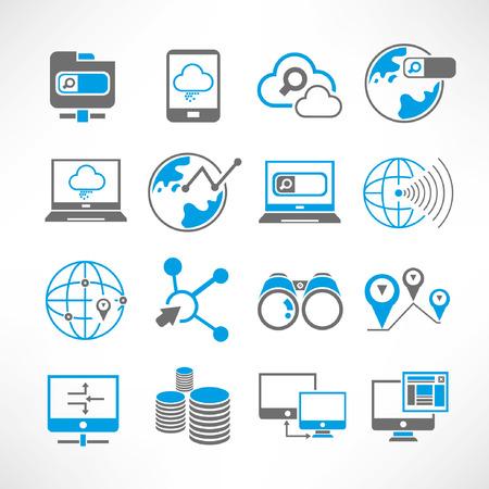icônes de réseau