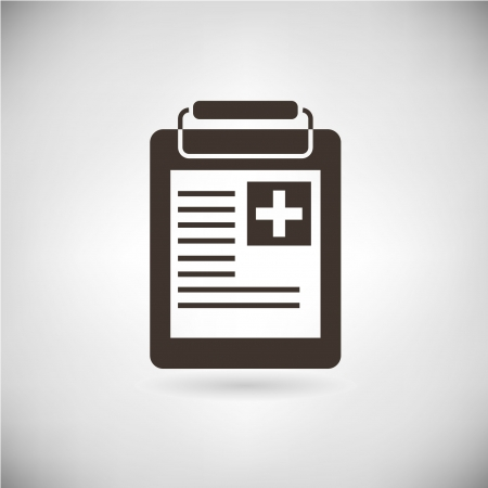 medical record, medical report Vectores