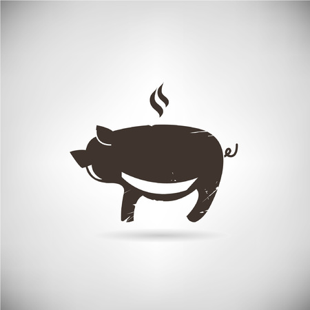 bacon art: pig