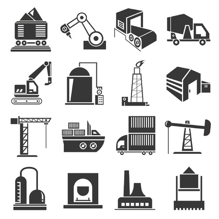 production plant: industrial icons