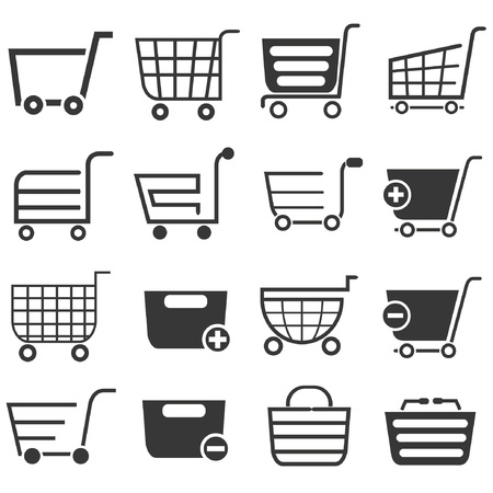 e retailers: shopping cart icons Illustration