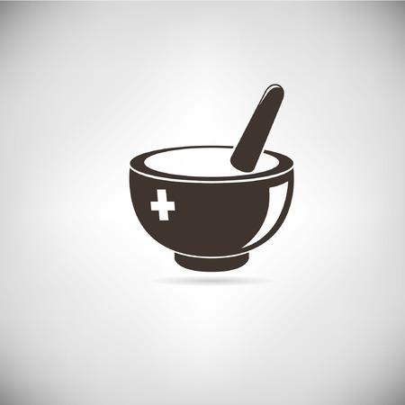 mortero: medicina  Vectores