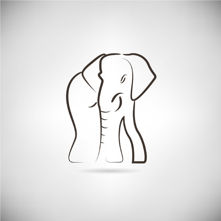 siluetas de elefantes: Elefante