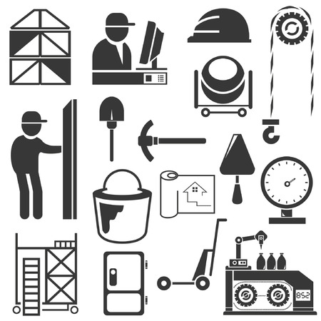 factory machine: industrial management icons, engineering icons