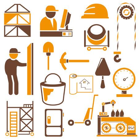 millstone: industrial management icons, engineering icons, orange theme icons