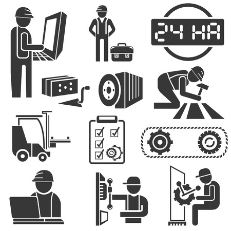 habiliment: industrial management icons, engineering icons