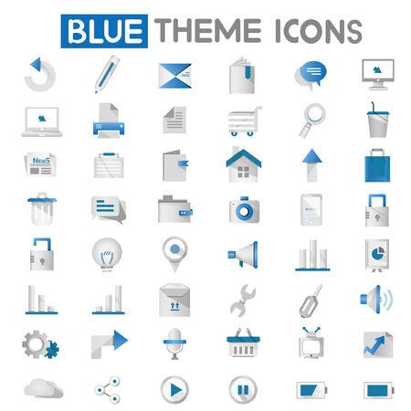 button batteries: web apps, internet icons, blue icons Illustration