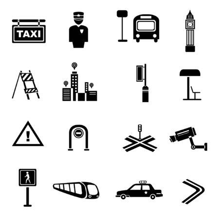 cops: traffic icons, metropolis set