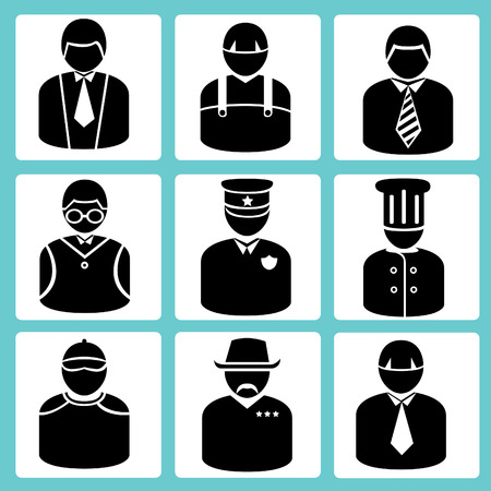avatar set, business man, occupation set Illustration