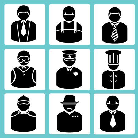 singular: avatar set, business man, occupation set Illustration