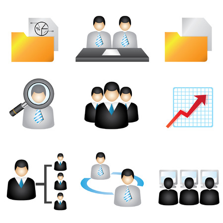 incorporation: business icons set, human resource icons set, business icons set